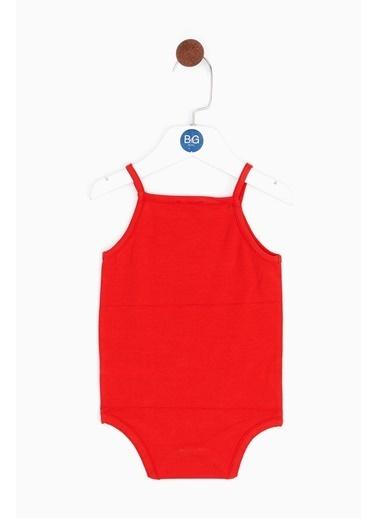 BG Baby Kız Bebek Kırmızı Body 19SS0BG2547 Kırmızı